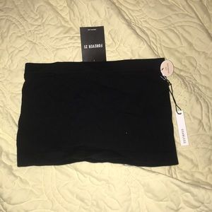 forever 21 seamless black tube top/bandeau